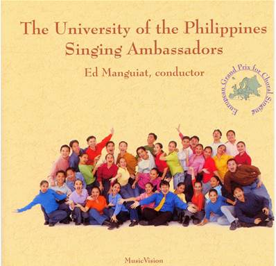 The university of the Philippines singing ambassad- CD