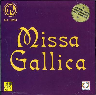 Missa Gallica- CD